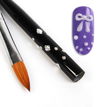 No. 10 Detachable Nail Art Acrylic Kolinsky Sable Brush # 617