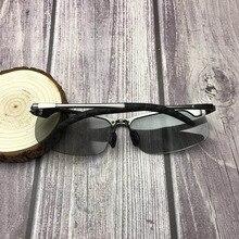 Ультрафиолет индукции автоматическое изменение цвета поляризованные очки Рыбалка очки deporte полярные клип на солнцезащитные очки