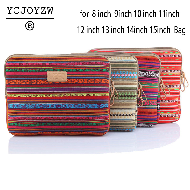 Notebook Bag 8 9 10 12 14 15.6 inch For Macbook Air pro retina 11.6 13.3 15.4 inch Notebook Lozenge bag for Men Women - YCJOYZW