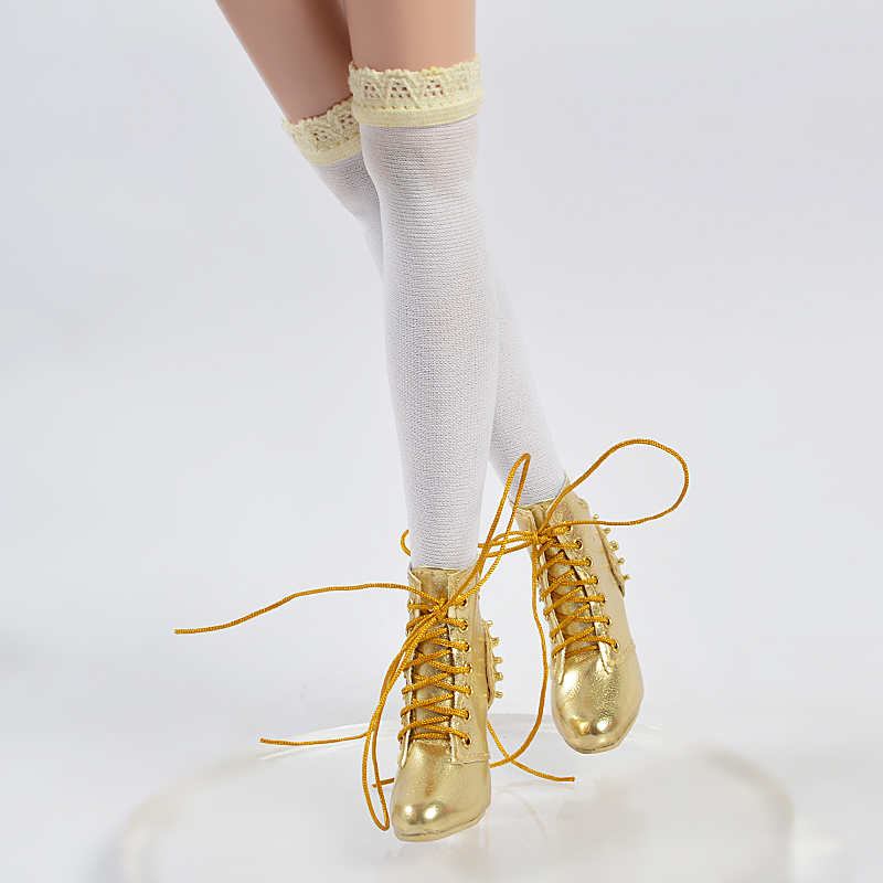 b0529dcca9 Sherry Toys gold Shoes boots For BJD Delilah Noir Ellowyne Wilde 16 ...