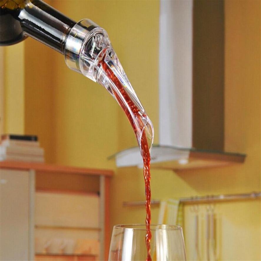 TENSKE Creative 16*4 cm Transparent acrylique dispositif de versement de vin aérateur essentiel ensemble aération rapide