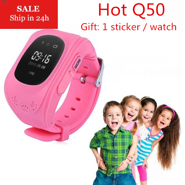 New Smart Phone Watch Children Kid Wristwatch Q50 GSM GPRS GPS Locator Tracker Anti-Lost Smartwatch Child Guard for iOS Android