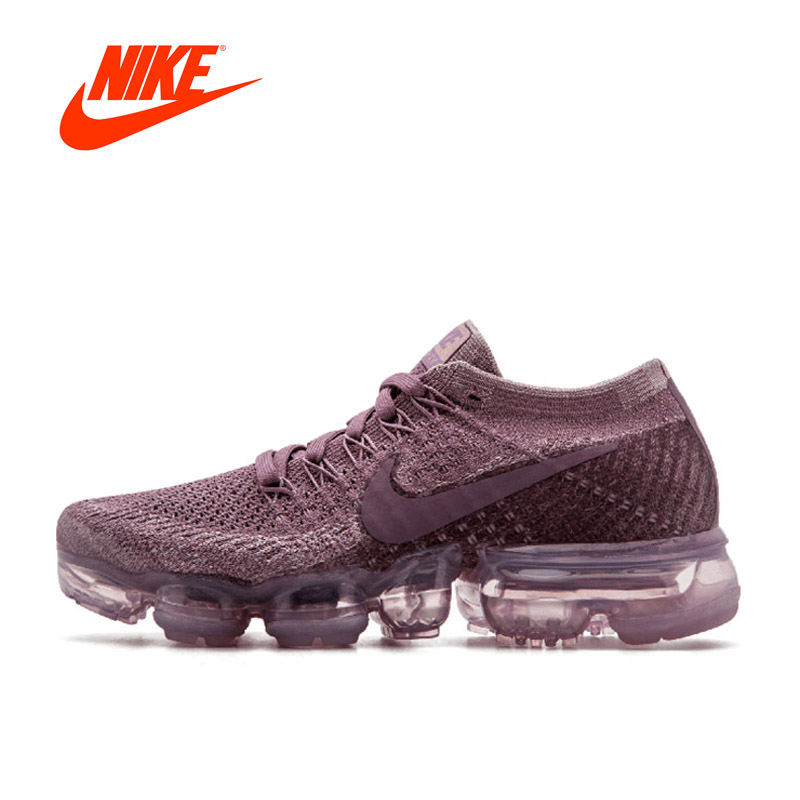 Original Nike Air Vapor Max Flyknit Lace Violet Women's Breathable Running Shoes for Women Sports Sneakers