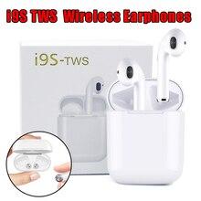 I9S i8X TWS двойной беспроводной наушники портативный Bluetooth 5,0 гарнитура вкладыши с микрофоном для IPhone X 8 7 Plus телефонов Android