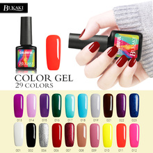 цена на BUKAKI Glitter Neon Nail Gel for Full Set Gel Manicure Colorful Need UV Led Lamp Gel Nail PolishLacquer Shiny Color Nail Art