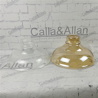 Amber/clear glass shade D275mmX150mm DIY lighting lampshade cone glass pendant light shade Design your own light glass shade