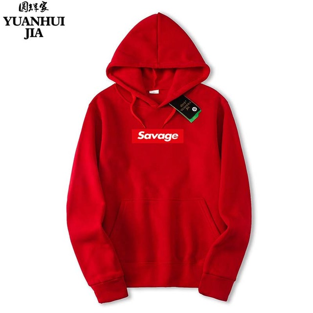 a2a95295ab3bf1 Red letters printed cotton coat Hoody Hoodie clothing brand savage hip-hop  summer supreme god fearing Street