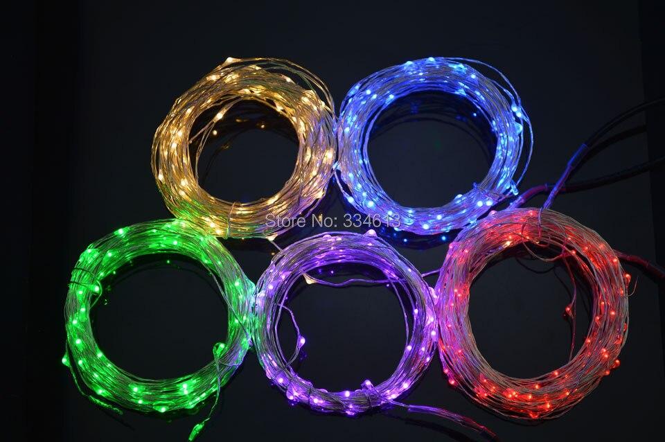 9 värvi 5M 50Leds vasktraadist LED stringid heledad tähtvalgustid + Mini Dimmer + toiteadapter, saab lülituda kolme režiimi vahel