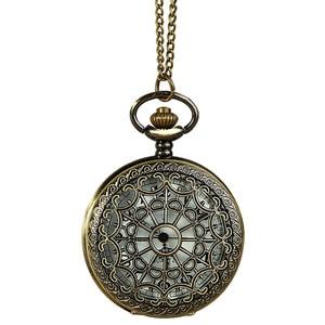 #5001Vintage Bronze Tone Spider Web Design Chain Pendant Men's Pocket Watch Gift reloj skyrim New Arrival Freeshipping Hot Sales(China)
