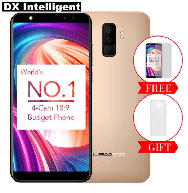 LEAGOO M9 2 gb 16 gb SmartPhone 5.5 pouce 18:9 HD IPS MT6580 Quad Core 8MP + 5MP Quatre Caméra android 7.0 OTG 2850 mah GPS D'empreintes Digitales