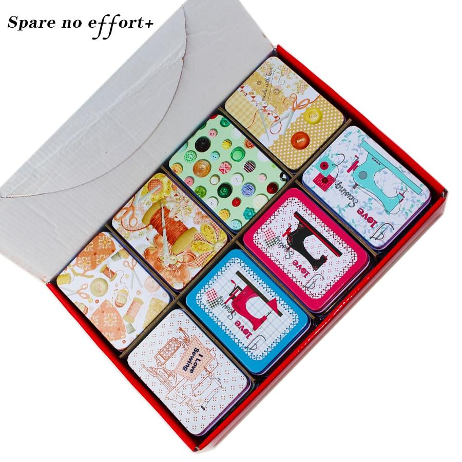 Mac Cosmetics Lipstick Organizer Sewing Machine Tin Box Metal Jewelry Storage Case Candy Case Food Container Tea Box Gift Box