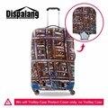 Artisctic cobertura para bagagem Personalizado protetor Protetores de Spandex tampa Tampa Da Mala para mala De Viagem Da Bagagem de 30 polegada