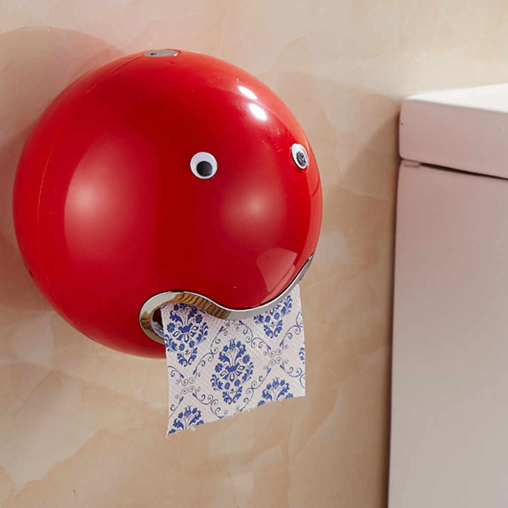 Paper Box Ball Shaped Cute Waterproof red Toilet Roll Paper Holder 18.5x18.5cm plastic bathroom kitchen Tissue storage box hot