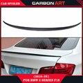 For BMW F10 M5 design front bumper rear lip Spoiler 2010 - 2016 5 Series Sedan F10 Carbon Spoiler F10 M5 Rear Trunk Spoiler