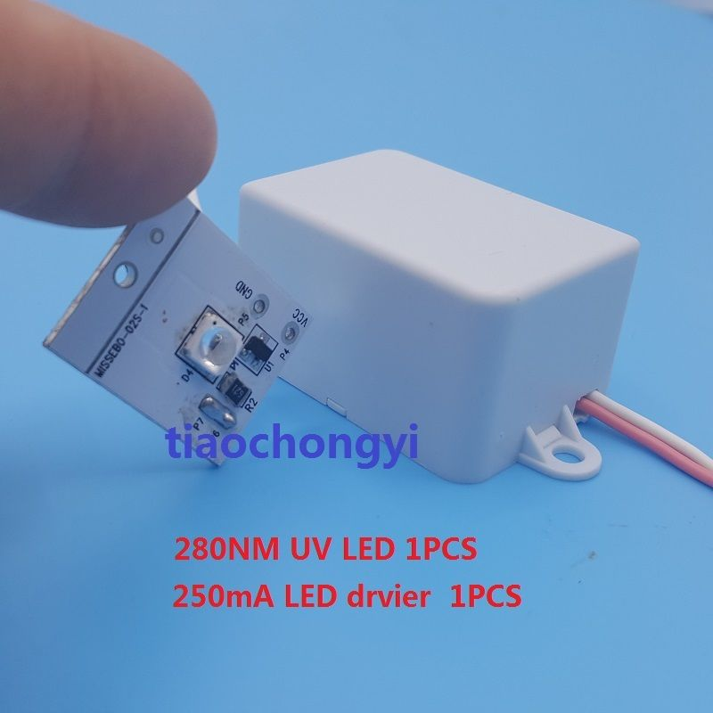 280nm 100mA UV purple LED diode,Low wavelength Ultra violet UV LED Driver 10w 12w ultra violet uv 365nm 380nm 395nm high power led emitting diode on 20mm cooper star pcb
