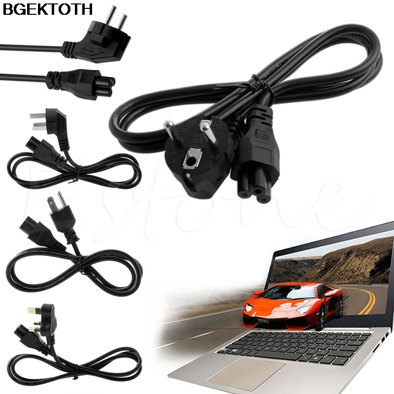 US/UK/EU/AU Plug AC Power 3-Pin Cord Cable For Dell Laptop for Lenovo for ThinkPad for IBM