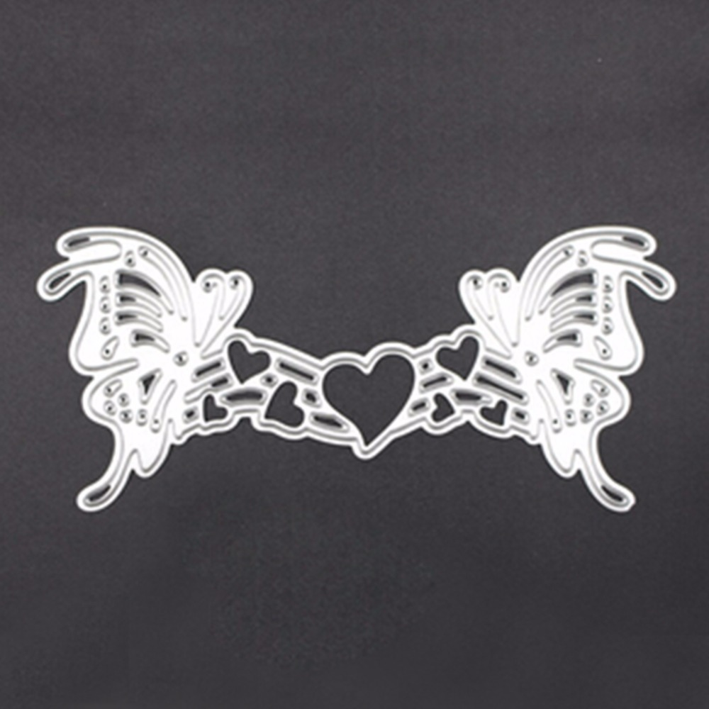 Carbon Steel Butterfly Love Cutting Die DIY Scrapbooking Embossing ...