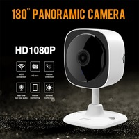 F60A 360 Degree Panoramic IP Camera Bulb Light 1080P HD Smart CCTV 3D Surveillance Camera 2.4GHz Wireless Indoor Baby Monitor