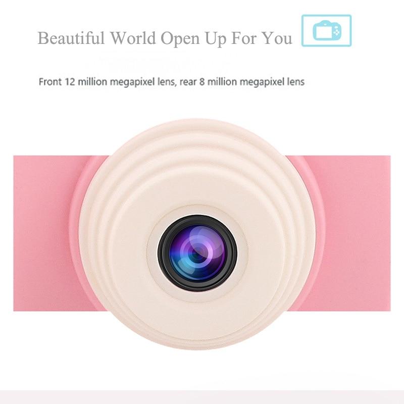 2.3 pouces 1080 P Mini appareil photo numérique pour enfants bébé mignon dessin animé multifonction jouet appareil photo enfants anniversaire meilleur cadeau - 2
