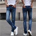 2016 spring and summer new men jeans pants Korean style inflow blue casual cool stretch pants man