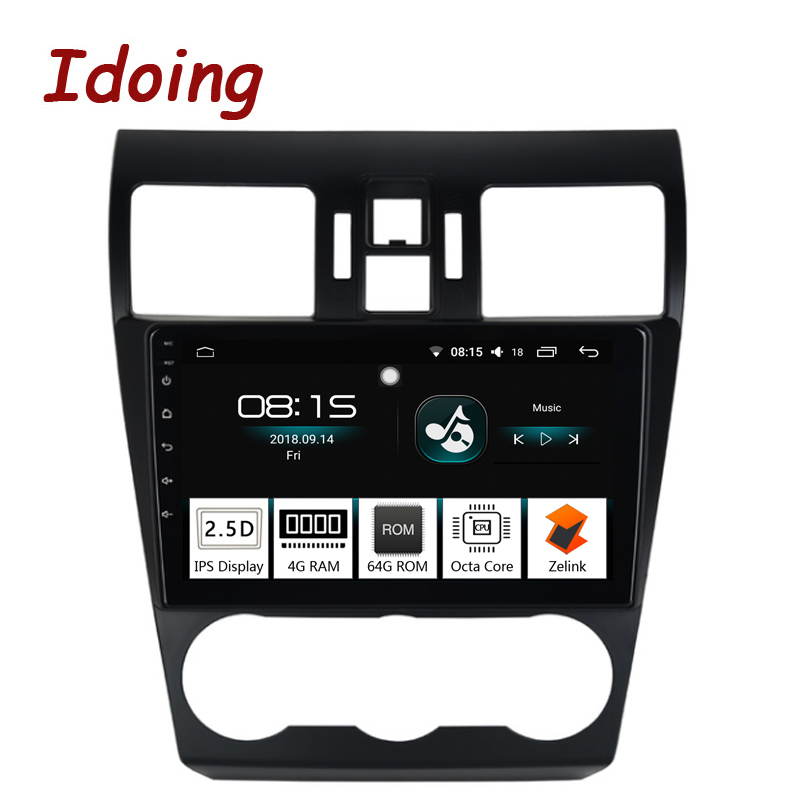 Idoing 1Din 9Car Android8.0 Radio Vedio GPS Multimedia Player For Subaru WRX 2013-2015 4G+64G Octa Core Navigation Fast Boot