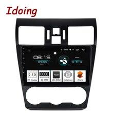 Idoing 1Din 9 «автомобиль Android8.0 радио Vedio GPS; Мультимедийный проигрыватель для Subaru WRX 2013-2015 4 г + 64 г Восьмиядерный навигация быстрая загрузка