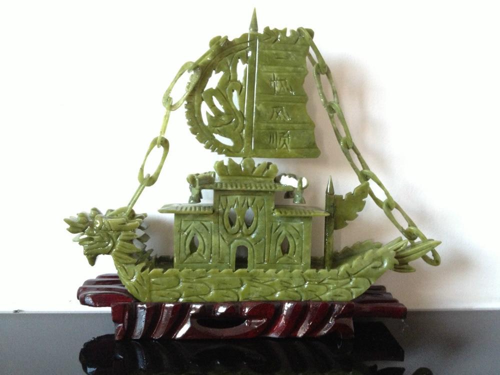 RARE 100% Chinese Natural Jade Ručně vyřezávané vzácné - Dekorace interiéru