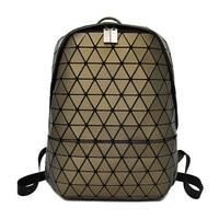 Women Laser Backpack Geometric Shoulder Bag Folding College Student School Bags For Teenage Girl Hologram Travel Backpacks