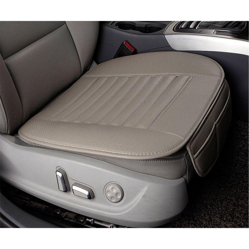 2 pièces PU cuir respirant voiture intérieur siège housse coussin tapis pour Auto fournitures chaise de bureau