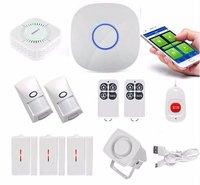 GSM сигнализация Системы с PIR Сенсор дыма дверной контакт