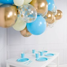 40pcs DIY Balloon Sets Blue White Macaron Gold Metal Confetti Balloons Garland Free Chain For Wedding Birthday Baby Shower Decor