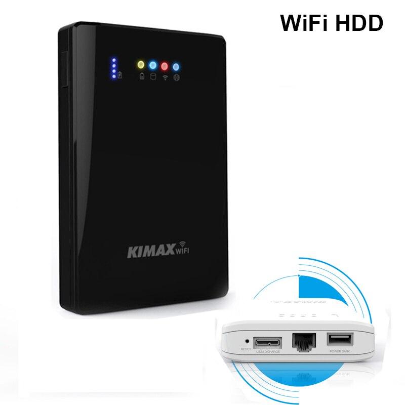 Sans fil HDD wifi gestion 2 to/1 to/500G/320G/250G dispositif de stockage personnel 4000mah batterie externe 2.5 pouces disque dur portable