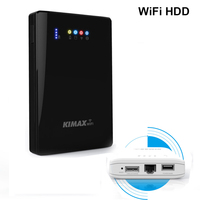 Wireless HDD wifi management 2TB/1TB/500G/320G/250G personal storage device 4000mah power bank 2.5 inch portable hard disk drive