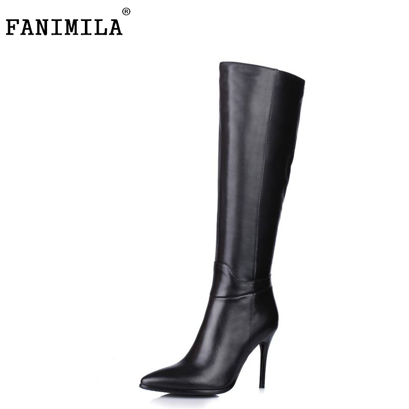 ladies real genuine leather high heel over knee boots women long boot winter botas brand footwear heels shoes R7355 size 34-39 pritivimin fn81 winter warm women real wool fur lined shoes ladies genuine leather high boot girl fashion over the knee boots