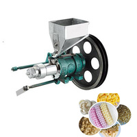 Maize puffed food extruder,corn puffing extrusion with 7 mold to make corn puffed food for 20kg/h, puffed food machine, puff sna