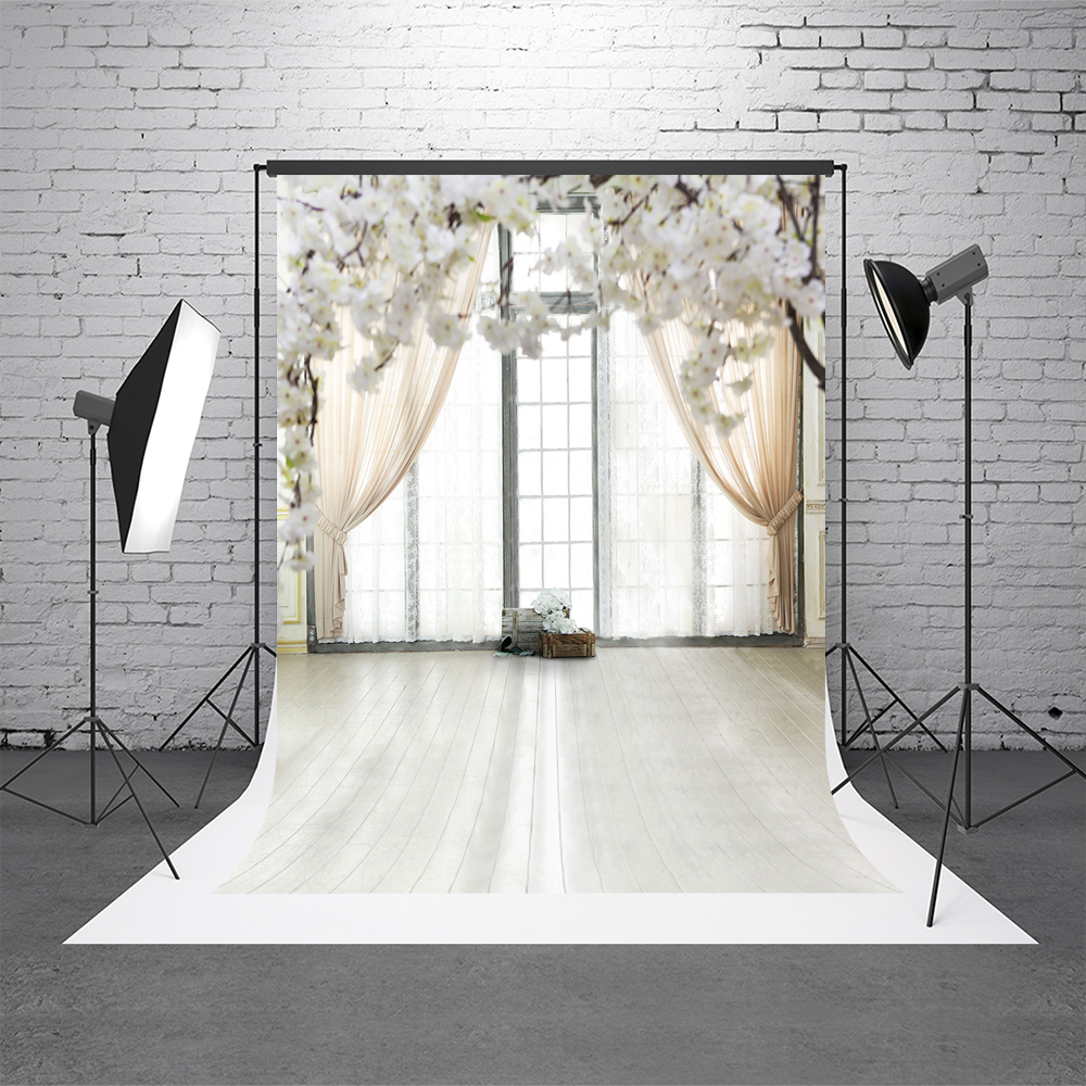 Kate White Indoor Wedding Photostudio Background Flower Props Photography Photobooth Window Microfiber Washable Photo Backdrops сумка kate spade new york wkru2816 kate spade hanna