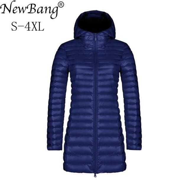 9447a7b9ebfae8 € 25.54 26% de réduction NewBang marque femmes doudoune femme Long hiver  chaud manteau Ultra léger doudoune femmes léger chaud femmes manteaux ...