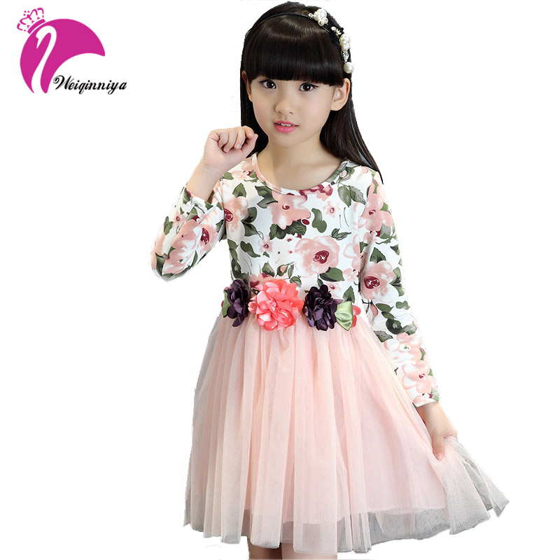 b257a0bc6a29 Baby Dresses For Girls Fashion Children Girl Autumn Solid Cotton ...
