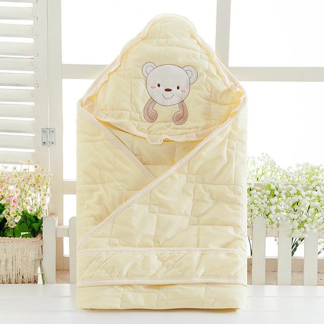 O Novo Estilo de Primavera Recém-nascidos Outono E Inverno de Algodão Bebê Receber Cobertores Cobertores Cachecol Macio