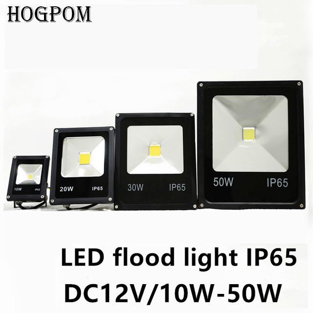 Free shipping Newest DC 12V LED luminaire light 10W 20W 30W 50W IP65 LED Flood Light Floodlight LED street Lamp