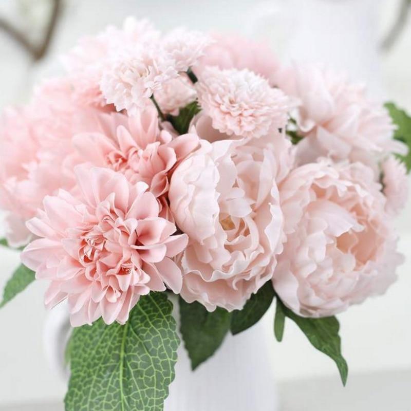 Aliexpress.com : Buy Bridal Bouquets Decoration Silk Flower Wedding ...