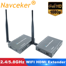 2.4/5.8GHZ 330ft WIFI + Loop Out + IR + HDMI Signal Over Wireless Extender 1080P Wireless HDMI Video Transmitter Sender Receiver redamigo 5 8ghz wireless hdmi av video transmitter receiver ir extender up to 300m hdmi extender hdmi converter hdmi cable t580