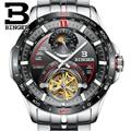 Швейцарские часы BINGER  мужские роскошные брендовые часы Tourbillon  автоматические механические часы  Sapphire reloj hombre  B-MS10001G-2