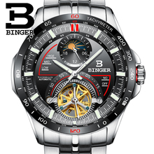 Switzerland BINGER Watch Men Luxury Brand Mens Watches Tourbillon Automatic Mechanica clock Sapphire reloj hombre B-MS10001G-2