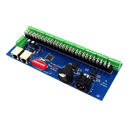 best price 1 pcs 27CH Channel with RJ45 9 group max 3A DMX512 LED Decoder controller for led module strip