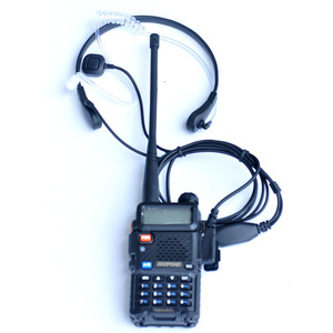 Image 2 - חדש מותג גרון מיקרופון גרון רטט אוזניות עבור שתי דרך רדיו BaoFeng UV 5R UV 82 UV B6 BF 888S ווקי טוקי אוזניות