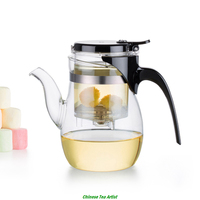600ml Super Quality Hot Selling Borosilicate Glass Tea Pot With Infuser