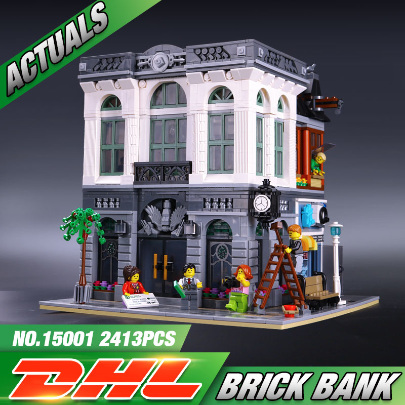ФОТО 2016 New LEPIN 15001 Brick Bank Model Building Kits Blocks Bricks Kits Toy Compatible With 10251