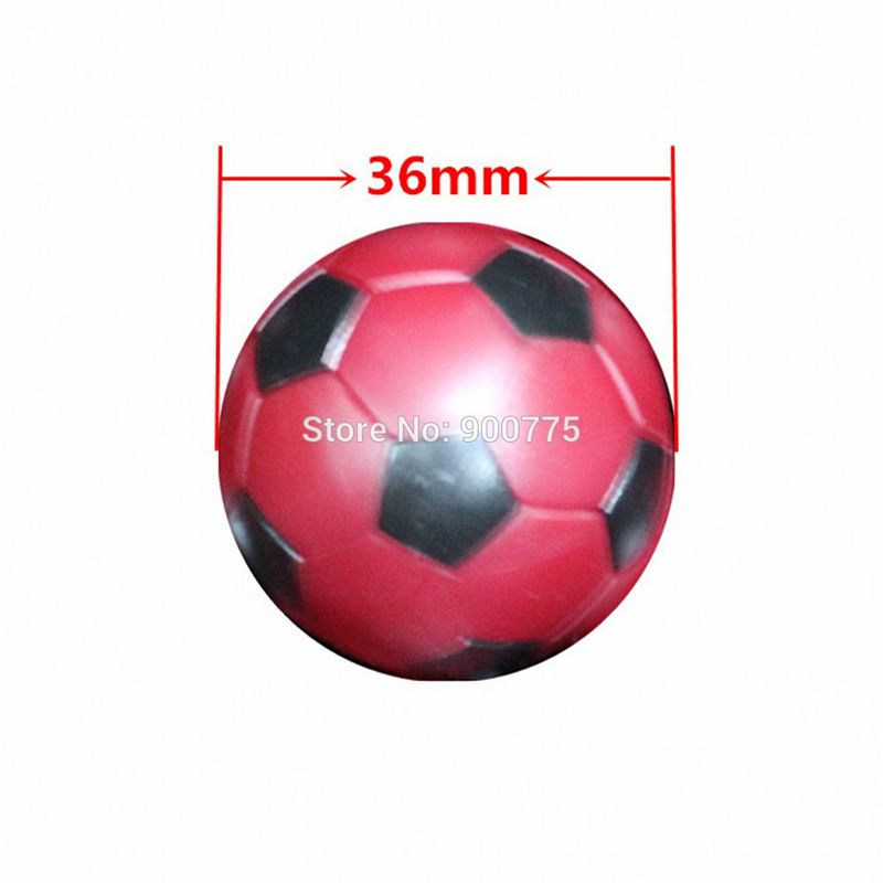 Футболдан жасалған доптар 36 мм Қызыл - Ойын-сауық - фото 3