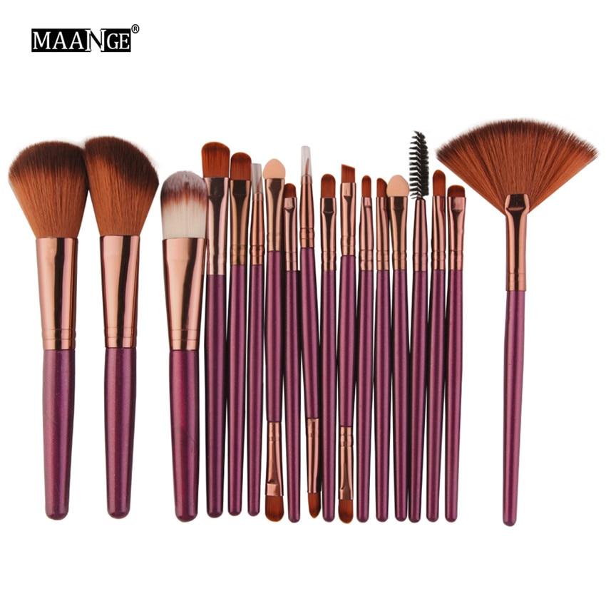 18Pcs/lot Brand Brushes Makeup Brush Set maquiagem Cosmetics Power Foundation Blush Eye Shadow Blending Fan Make Up Kits Beauty 6